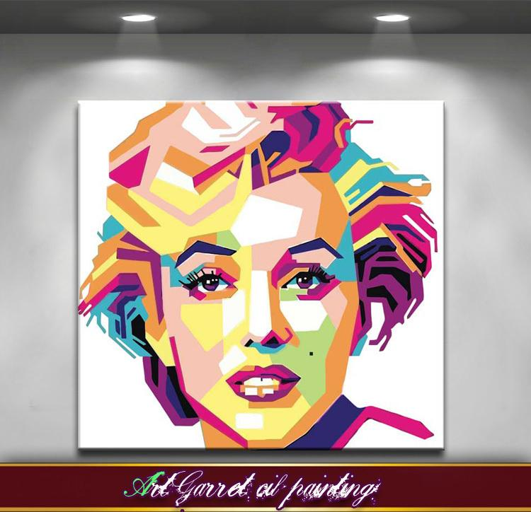 Handmade Modern Abstract oil painting on canvas Art Decorative Pop art paintings Monroe for wall decor