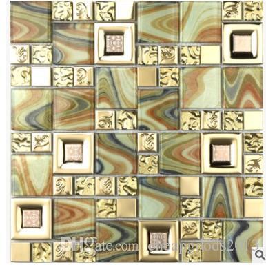 Compre La Nueva Gama De Colores De Pared Decorativos Tv De Mosaico De Vidrio Con Espejo Dorado De D 975b A 4392 Del Cheapgoods2013 Dhgatecom