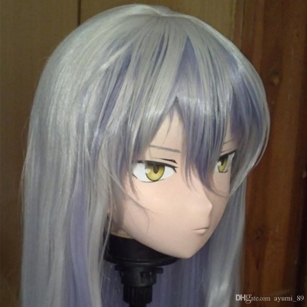 C2-033 Bom Kigurumi Pele Olhando Fêmea Full Face Anime KIG Máscaras Cosplay Kigurumi Crossdresser Fetish Personagem Role Play
