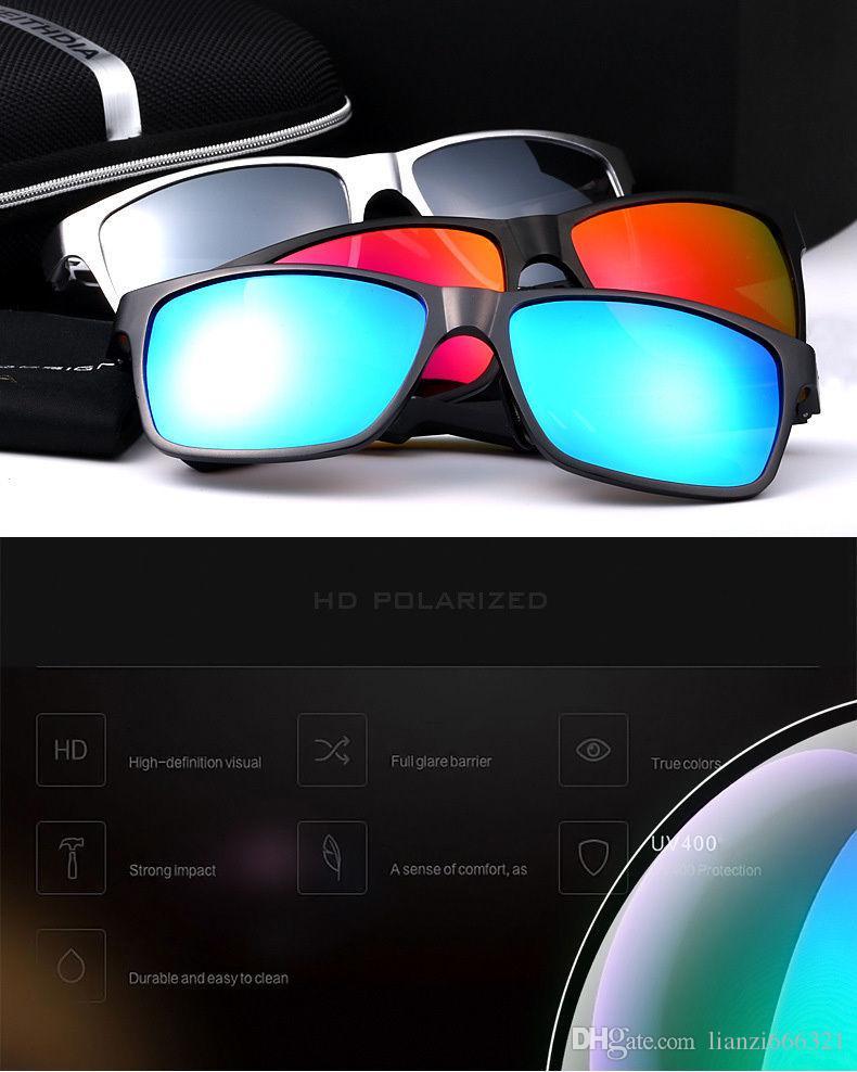 멋져 !! 뜨거운 브랜드 새로운 2017 새로운 알루미늄 편광 된 선글라스 복고풍 미러링 운전 안경 선글라스 패션 남자 선글라스 HJ0017