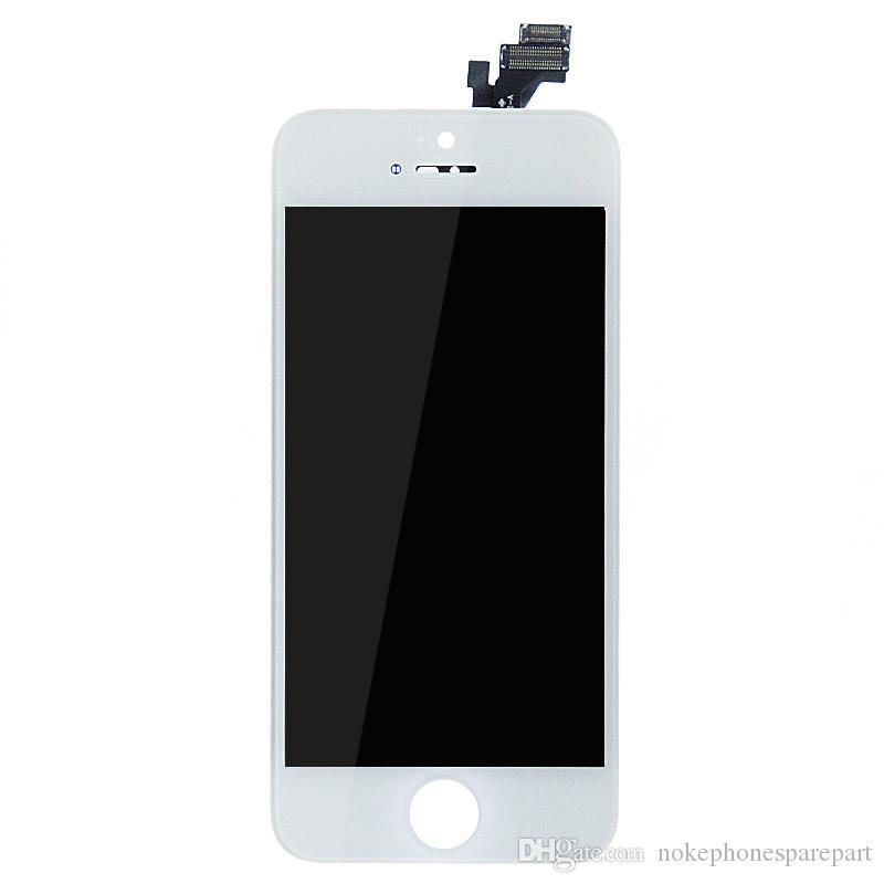 Display lcd branco + substituição do conjunto digitador da tela de toque para o iphone 5s novo