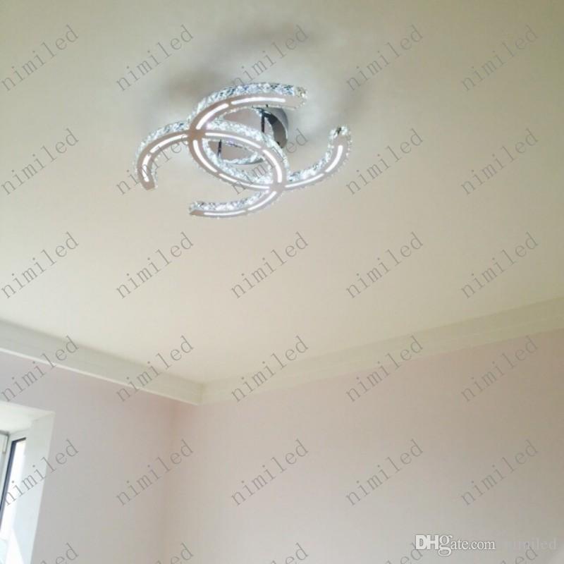 Nimi788 Lámparas de araña de cristal claras modernas LED luces de la sala de estar del techo Lámparas de la tienda Ropa de abrigo Restaurante Droplight