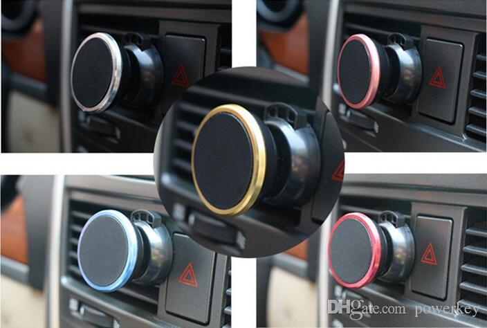 2017 soporte de teléfono universal magnético más nuevo fuerte fuerte del montaje en la rejilla de ventilación del aire del coche con la cuna del paquete al por menor