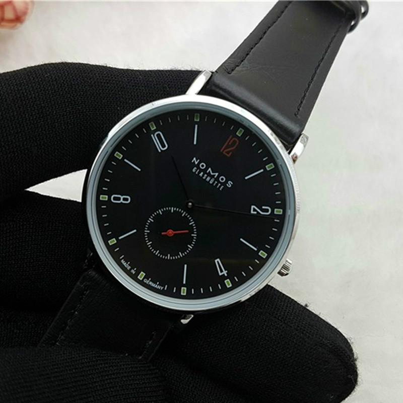 2016 New Brand NOMOS Quartz Watch lovers Watches Women Men Dress Watches Leather Dress Wristwatches Fashion Casual Watches