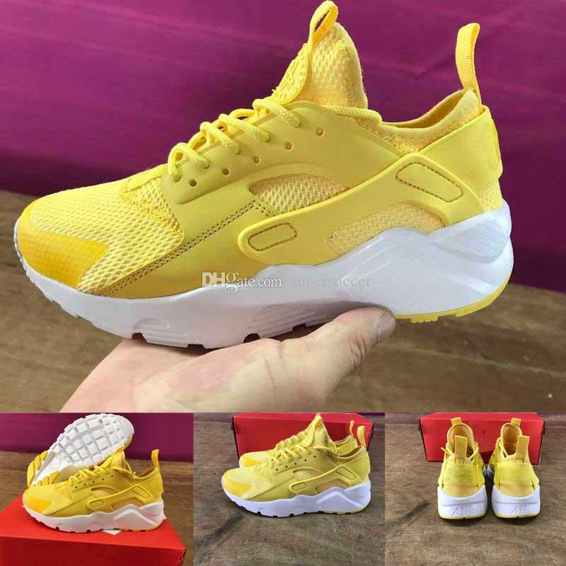 Hot Sale Air Huarache Ultra Classical Yellow White Huaraches Shoes Mens  Womens Running Shoes Sneakers Men Shoes Online Best Running Shoes For Flat  Feet From