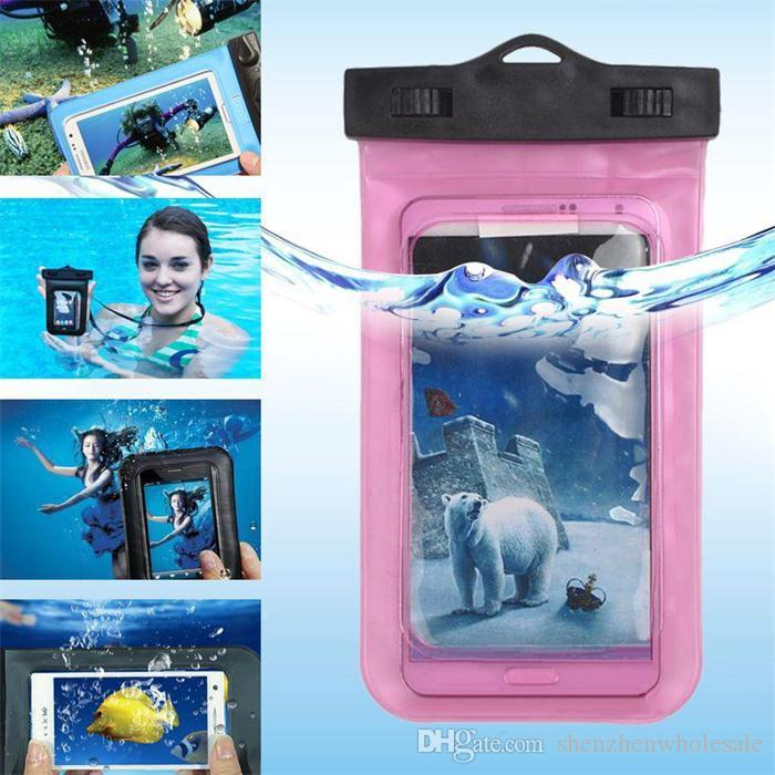For Smart Phone Universal Clear Waterproof Pouch Case Water Proof Bag Underwater Cover For Cell Phone Samsung Galaxy S6 Note 4