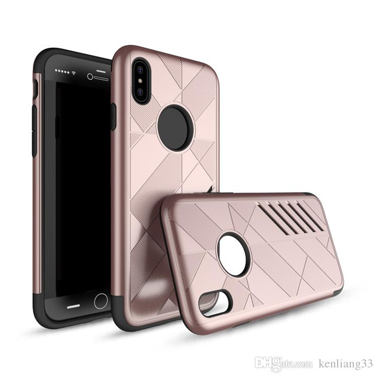 Hot selling TPU+PC 2 in 1 Hybrid Dual layer armor protective rubber hard cover case for iphone X shockproof tough cover opp bag