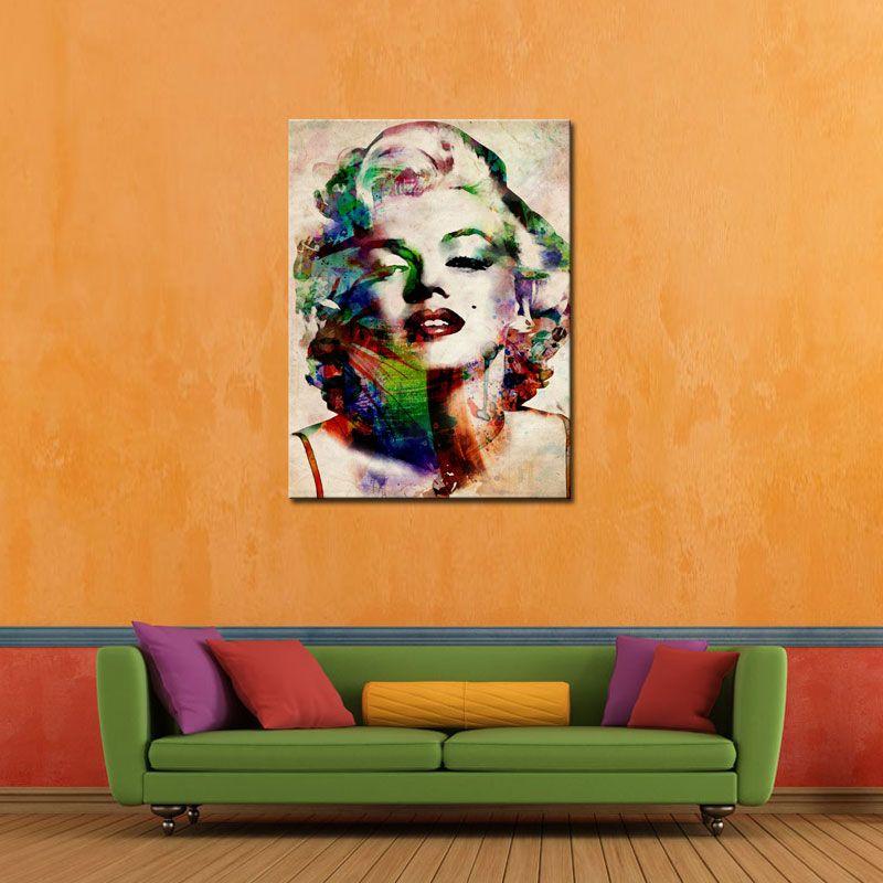 1 pieza Sexy Marilyn Monroe Picture Pictures Abstract Wall Art Impresiones en la imagen de la lona para la sala de estar Decoración de la casa sin marcar