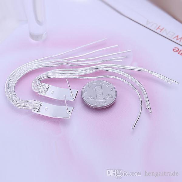 / LotFree доставка Оптовая стерлингового серебра 925 покрытием мода женщин серьги ювелирные изделия для подарков E095