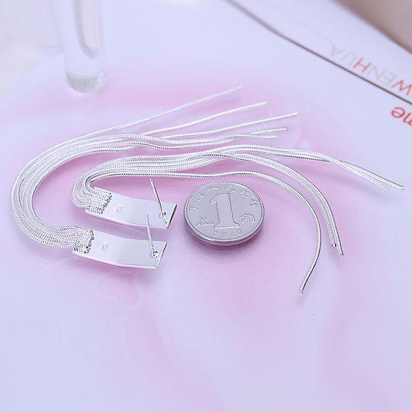 / LotFree envío venta al por mayor de plata de ley 925 mujeres plateadas moda pendientes joyería para regalos E095
