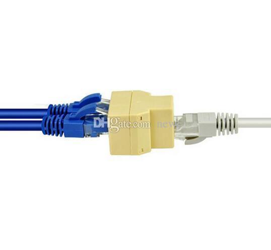 New Arrive RJ-45 SOCKET RJ45 Splitter Connector CAT5 CAT6 LAN Ethernet Splitter Adapter 8P8C Network modular plug PC laptop cable contact