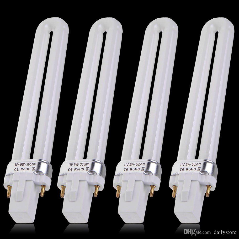Lampada UV la ricostruzione delle unghie con gel 9W 365nm Lampada UV la ricostruzione delle lampadine elettroniche a forma di U macchina asciugare le unghie