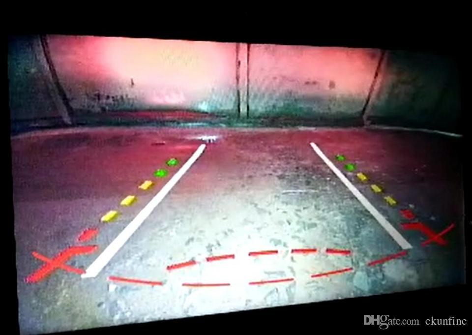 CCD Voie Piste Caméra de Vue Arrière Pour Citroen C4 Aircross 2012 Aide Au Stationnement Caméra Piste Ligne Vision Nocturne LED Lumière Étanche KF-V1239L
