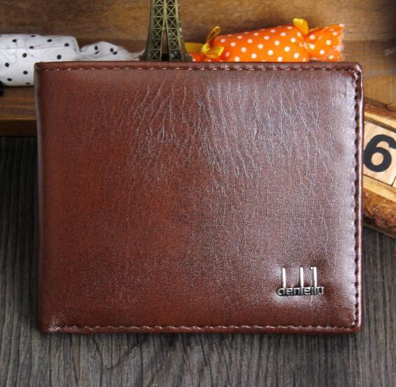 Portafoglio uomo vintage di marca Bifold marrone cuoio dell'unità di elaborazione frizioni di soldi borsa famosa qualità portafoglio nero del progettista gli uomini vendita calda all'ingrosso