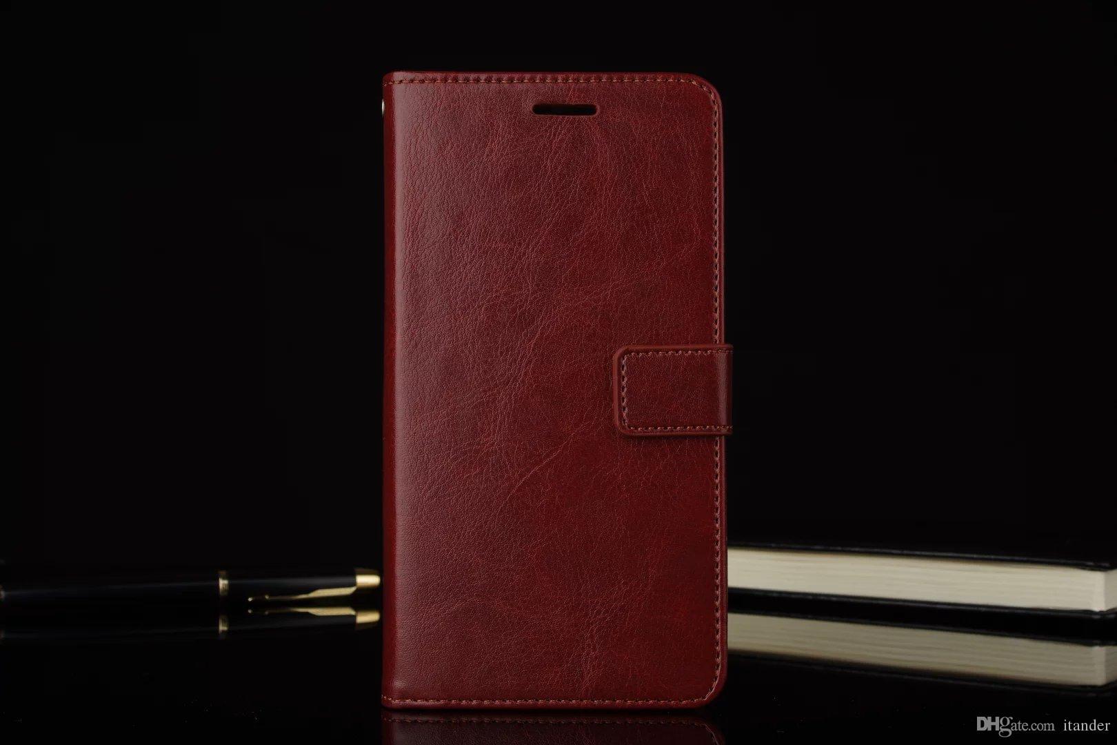 Nuovi accessori protettivi rigidi di lusso Slim Cover OnePlus 3 3t Tre Flip Custodie in pelle portafogli con supporto Stand Nero Marrone Bianco