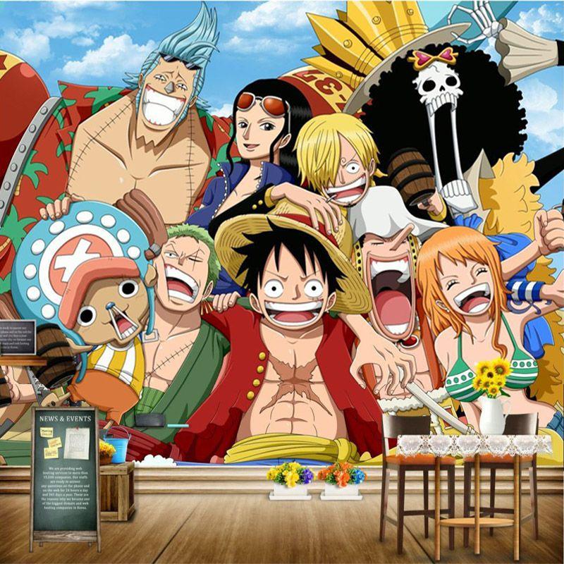 Compre One Piece Wall Mural Anime Japones Wallpaper D Photo Wallpaper Kids Bedroom Hotel Shop Pared De Papel De Pirata Tv Fondo De La Pared Que Cubre La