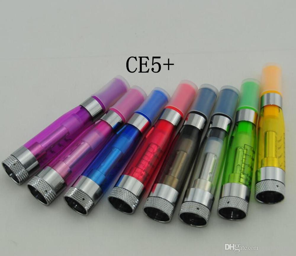 Prix d'usine Date Cartomizer CE4 + ce5 + coloré 1.6ml EGO atomzier e cig match parfait avec Ego t Ego W Ego K batterie
