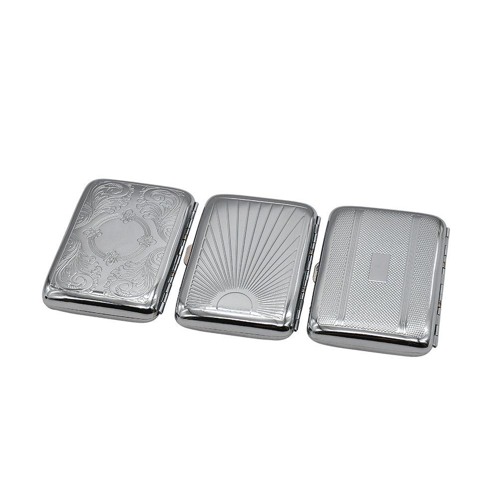 Boîte à cigarettes double face en acier inoxydable de haute qualité pour la boîte fumeur pour hommes Nous pouvons mettre votre logo dessus