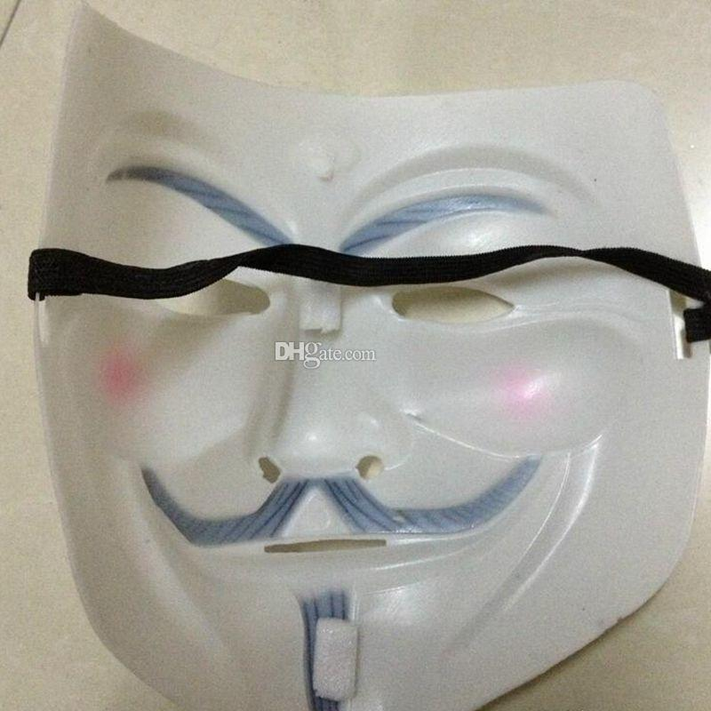 Cheap Masquerade Masks V Mask Vendetta Party Mask Party Masks V for Vendetta Anonymous Guy Fawkes Mask Halloween Cosplay