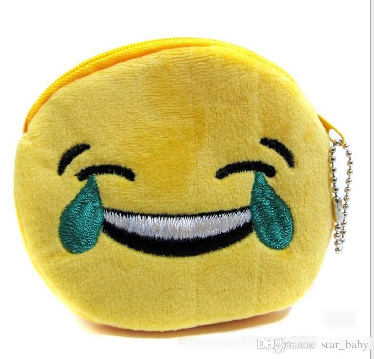 10 Diseño QQ Expresión Monederos Monedero Emoji Lindo Bolsas Colgante de Felpa Mujeres Niñas Creativo Chirstmas Regalos de Alta Calidad 11 cm K7030