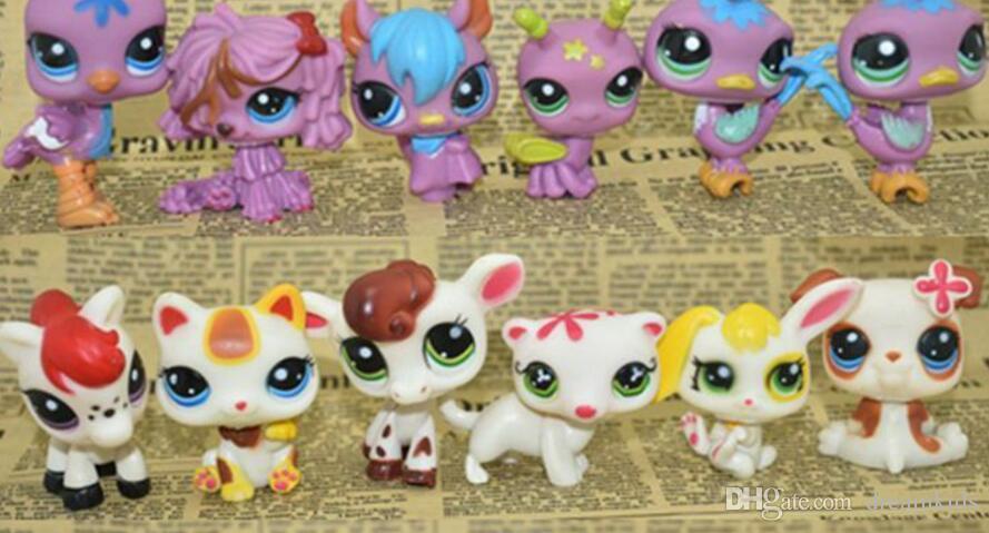 Sacchetto del giocattolo 24 Pz / lotto Pet Shop Animali Gatti Bambini ragazzo e ragazza Action Figures PVC LPS Toy Compleanno / Regalo di Natale