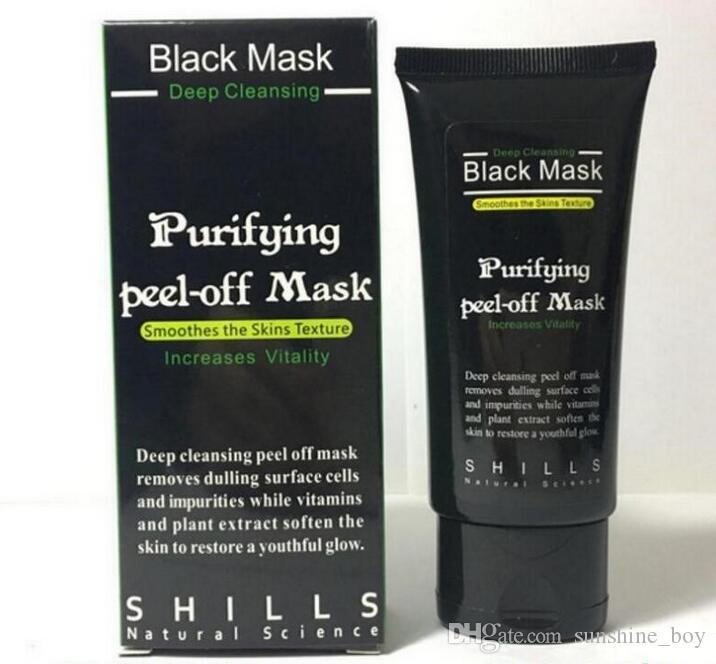 2018 hot sales SHILLS Deep Cleansing Black Mask Pore Cleaner 50ml Purifying Peel-off Mask Blackhead Facial Mask