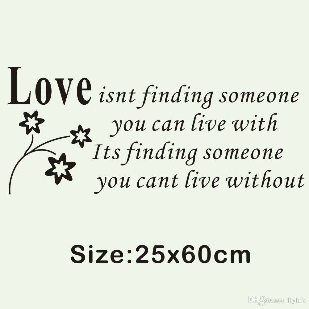 Love Art Quotes Love Quotes Vinyl Art Mural Wall Decal Love Isn't Finding Someone