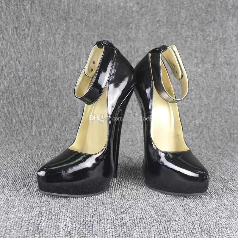 Wonderheel HOT New real leather pump 18CM heel women shoes Sexy thin heel fashion lady high heel with lock wholeship