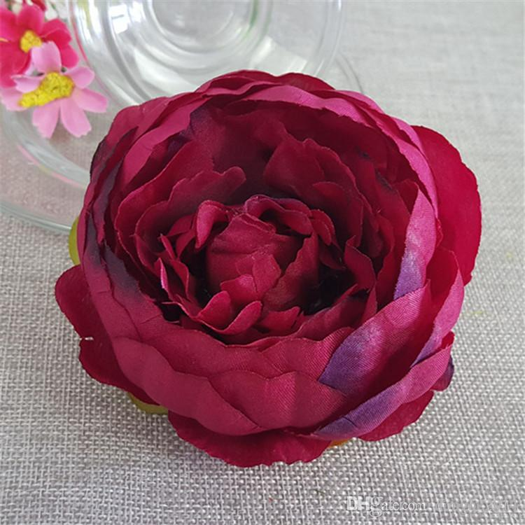 10cm Artificial Flowers For Wedding Decorations Silk Peony Flower Heads Party Decoration Flower Wall Wedding Backdrop White Peony