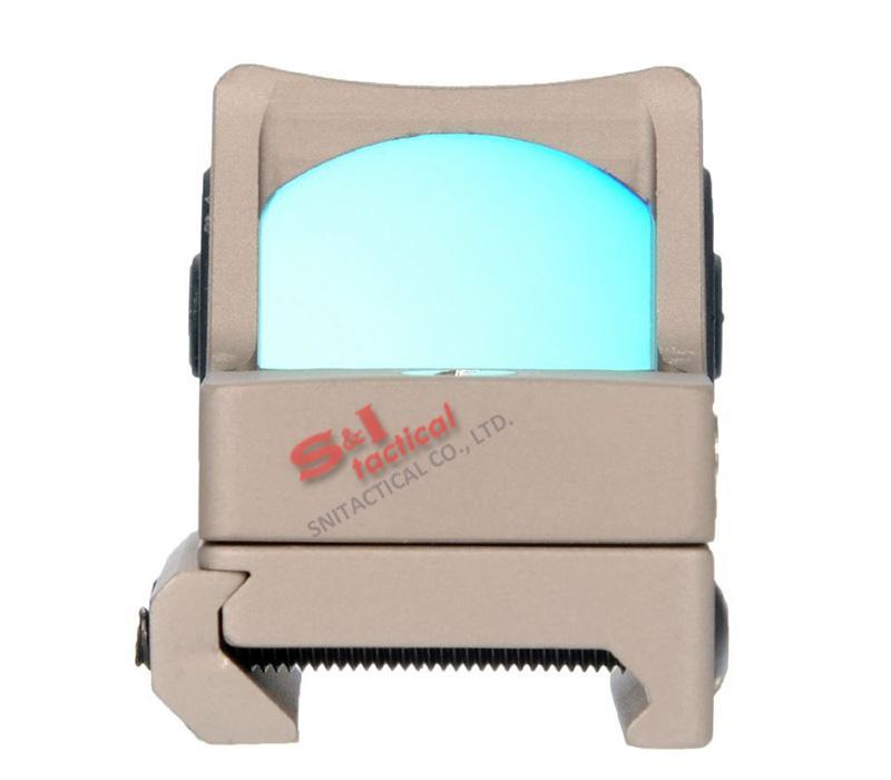 Taktische RMR Red Dot Reflexvisier Einstellbare LED 3,25 MOA Red Dot mit Seitentaste Steuerung Dark Earth