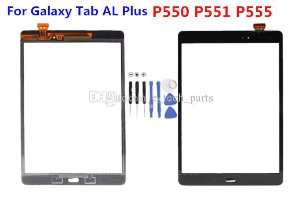 Dokunmatik Ekran Digitizer Cam Lens LOGO ile Samsung Galaxy Tab için AL Artı P550 P551 P555 Orijinal Dokunmatik Cam Panel ücretsiz araçlar