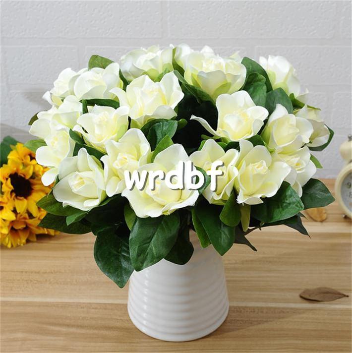 """Silk Single Stem Gardenia 30cm/11.81"""" Length Artificial Cape Jasmine Flower Gardenias for DIY Bridal Bouquet Accessories"""