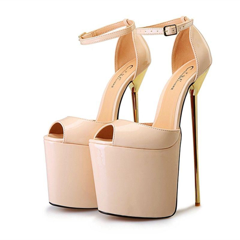 22CM Heel Height Sexy Peep Toe Stiletto Heel Pumps Party Shoes Metal Heel  NoA14 Stiletto Heel Sexy Shoes Pumps Online with 10172 Pair on  Bjhighheelss