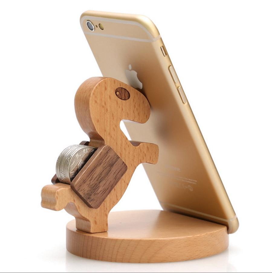 2018 phone stands for desk phone holder bracket personalized custom pony beech wood phone holder. Black Bedroom Furniture Sets. Home Design Ideas