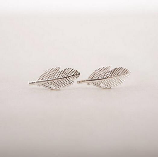 /Fashion A leaf earrings 18K Gold Plated/silver plated/rose gold plated earrings wholesale