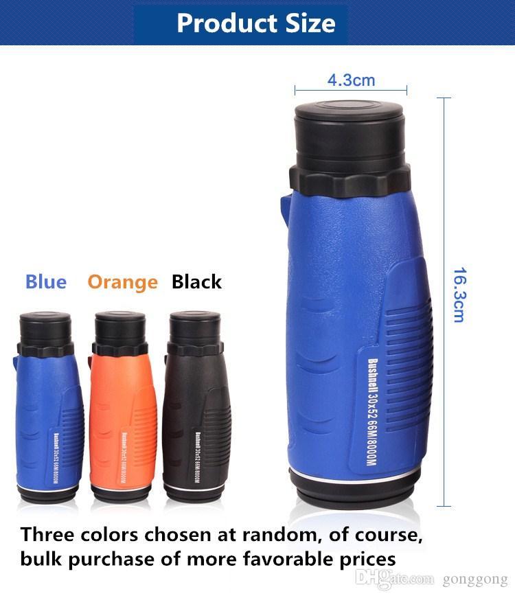 Горячая продажа многоцветность 30x52 Монокуляр мини-телескоп высокой мощности высокой четкости зрения ультра широкий угол фотоаппаратура