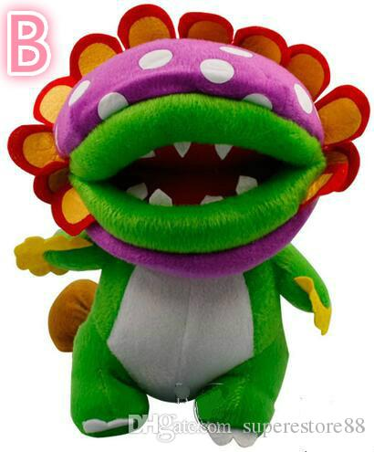 "2016 new Super Mario Brothers Plush Figure - 8"" Dino Piranha toy"