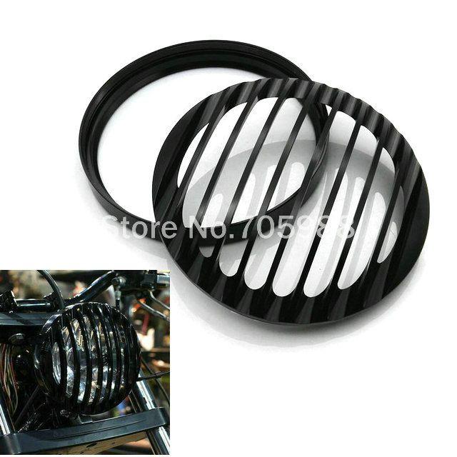 Couvercle de calandre noir moto avant moto pour Harley Sportster XL 1200 XL 883 2004 ~ 2014 Abat-jour en billette en aluminium