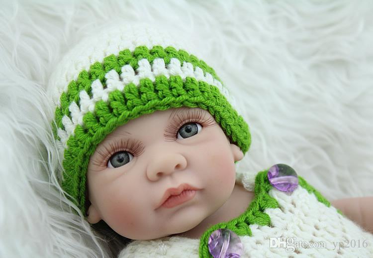 11 '' Silikon reborn Puppenspielzeug für Kind Nette Lebensechte Neugeborene Babyspielhaus Spielzeug Gewichtete Puppe für Alter 3+