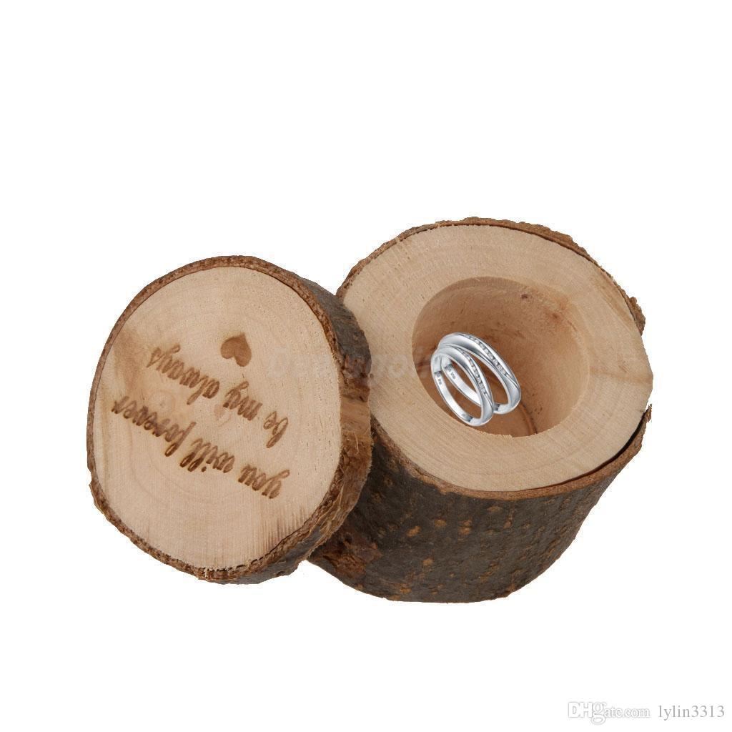 His&Hers Mrs&Mr Rustic Wedding Ring Box Wood Ring Bearer Pillow Box Wood Ring Holder Engagement Gift