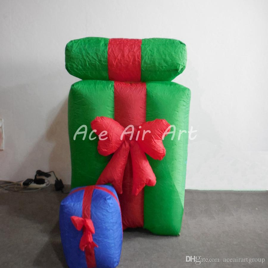 China manufacture excellent quality Christmas items inflatable gift box for Christmas holiday decoration