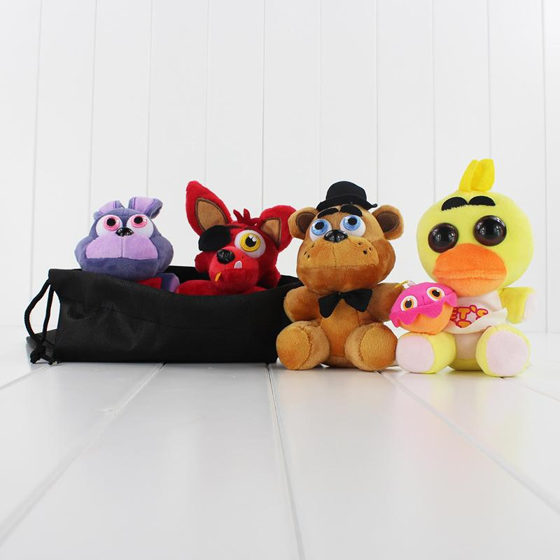 Игра Пять ночей в Плюшевые FNAF Бонни Foxy Freddy Плюшевые игрушки Фаршированные Мягкие куклы Фредди с хранения сумка 13см-18см