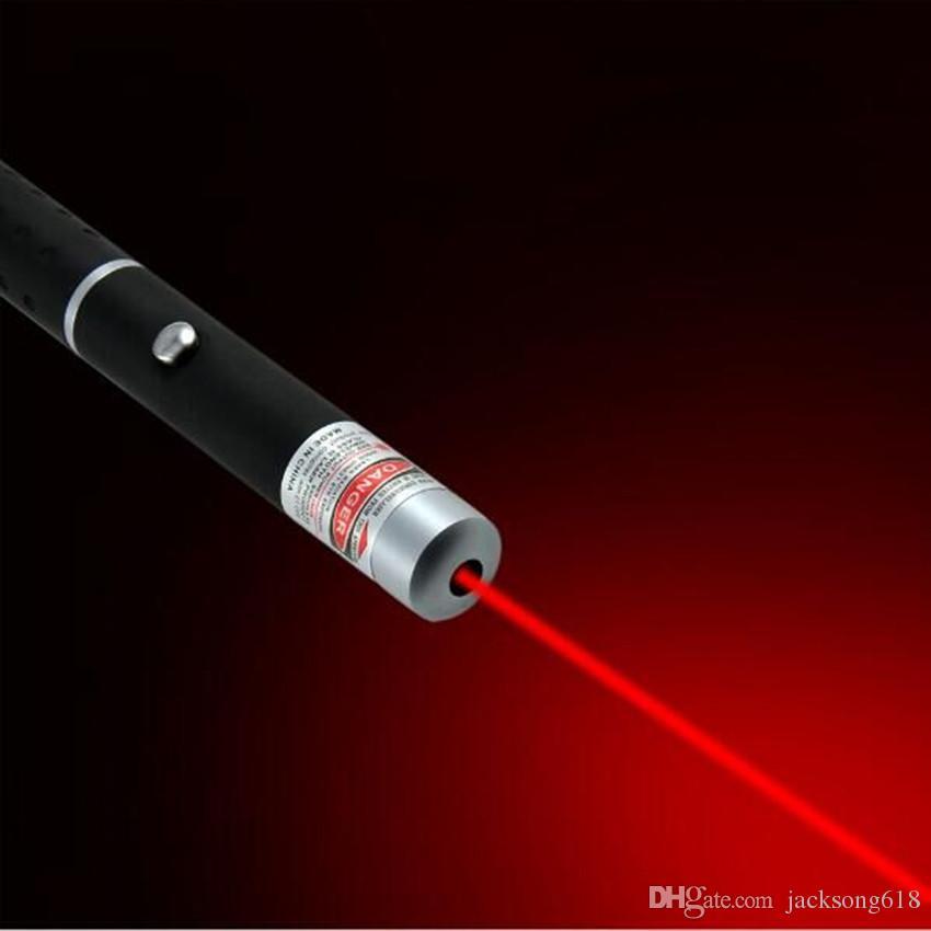 Lazer Pointer Kalem Kırmızı Işık Lazer Kalem 5 mW 650nm Işın SOS Montaj Gece Avcılık Öğretim Için Noel Hediye Opp Paket Toptan 50 adet / grup
