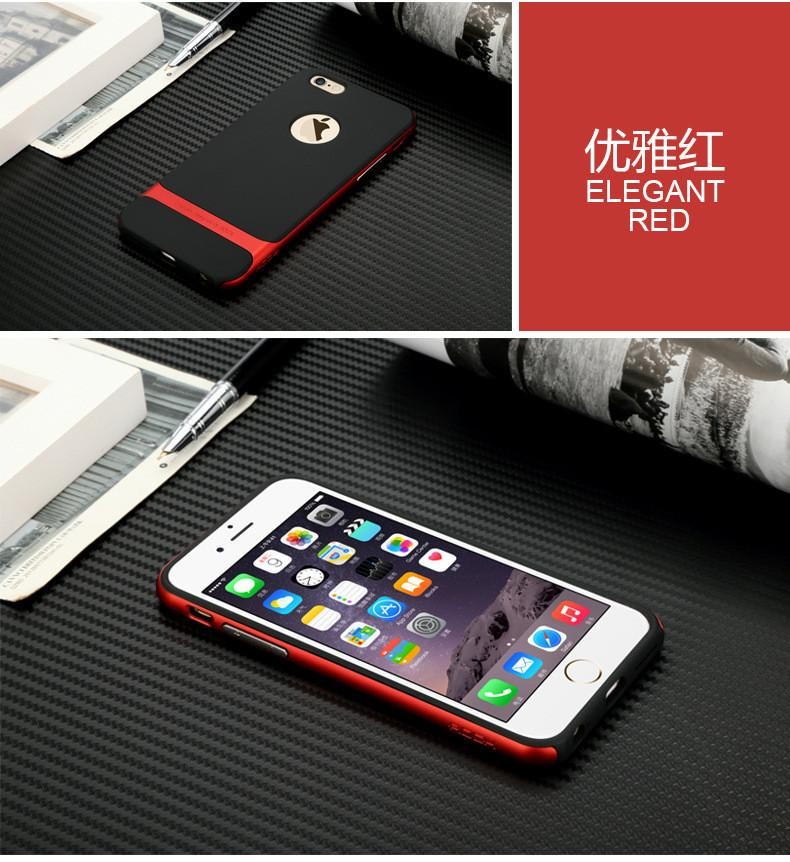 ROCK CASE COVER For Apple iPhone 5 5S 6 6S PLUS Case Hot Multicolor Hybrid Shockproof Hard Bumper Phone Case Cover 2016 New