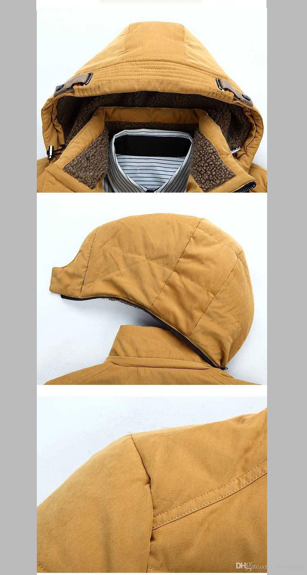 50% OFF Thick Warm Duck Down Winter Jacket Men Winter Parkas Hooded Coat Outdoor Down-Jacket 160