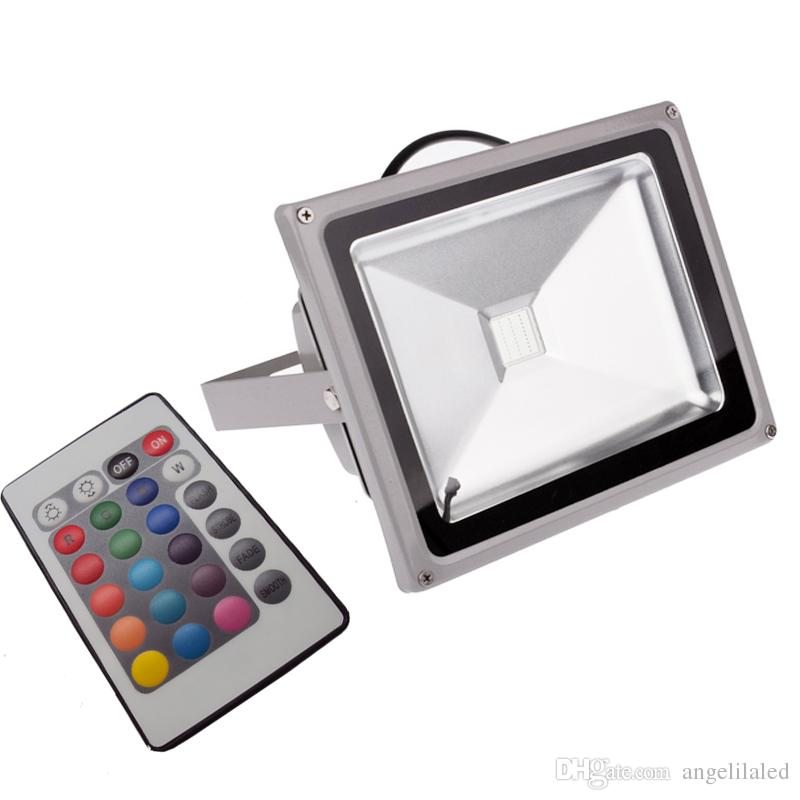 color changing wall washer garden yard led waterproof flood light remote controller 4 modes floodlight christmas atmosphere lights led flood lamps led flood