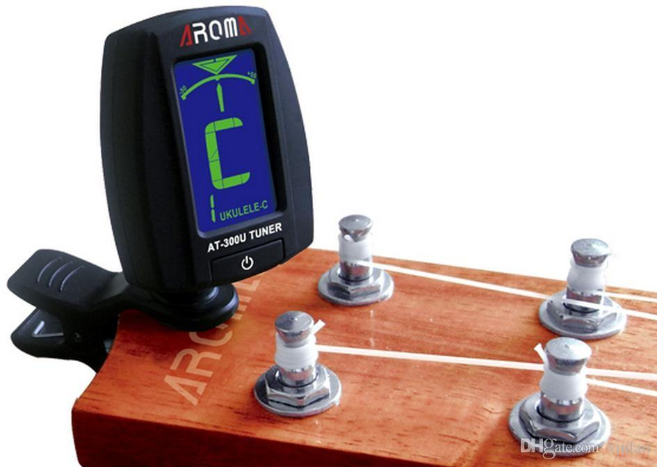 아로마 AT-300U Chromatic 12 note, 우쿨렐레 키 C, 우쿨렐레 키 D 부품 디지털 360도 클립 우쿨렐레 기타 튜너