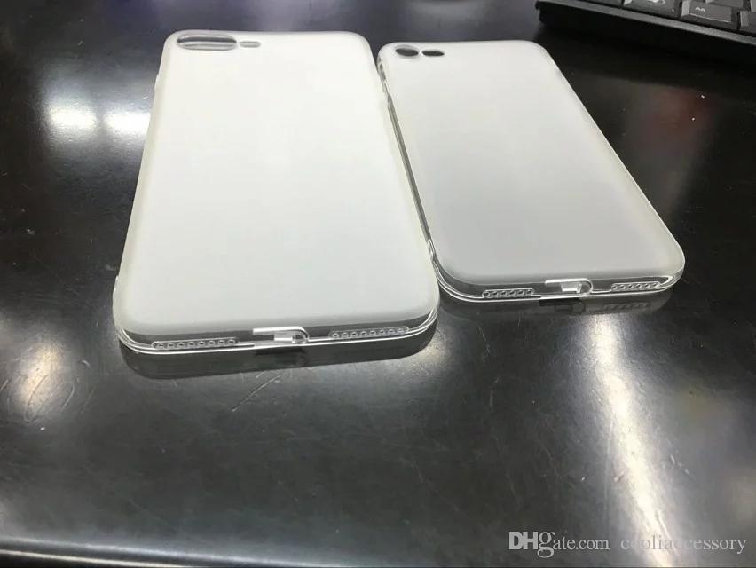 Матовый мягкий чехол TPU для Iphone 7 Plus Iphone7 7PLUS 7G с пылевым штекером прозрачный матовый силиконовый гель резиновый кожный покров Celular Cell phone Luxury