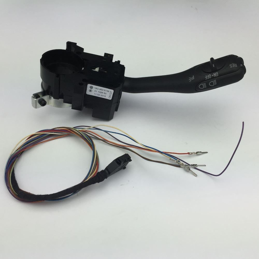 2018 For VW Golf 4 Jetta MK4 Bora 2015 Cruise Control System Stalk Handle  Switch 18G 953 513 A Wire Harness Connector 1J1 970 011 F ≪$18 No Track  From ...