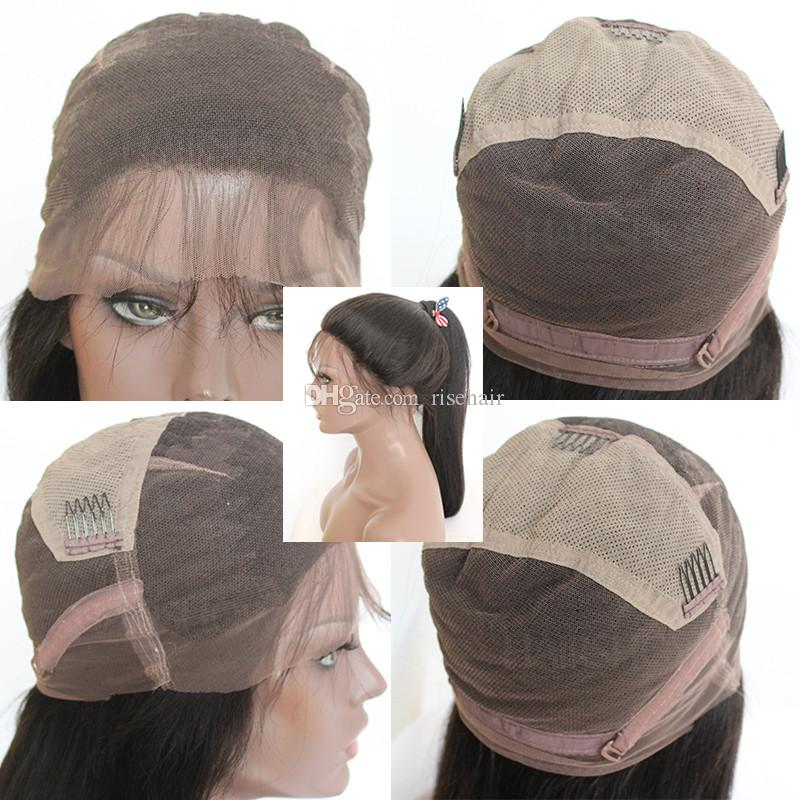 Short Human Hair Bob Wigs For Women Middle Part Pre Plucked Full Lace Human Hair Wigs With Baby Hair Brazilian